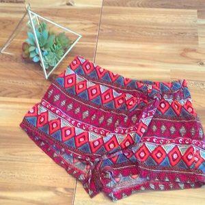Patterned shorts/ skort